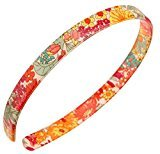 "France Luxe 1/2"" Ultracomfort Headband - Floral Rhapsody Pink/Green"