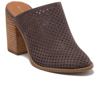 Madden-Girl Mila Perforated Block Heel Mule