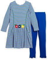 Florence Eiseman Stripe Dress w/ Solid Leggings, Size 2-6X