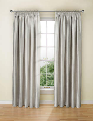 Marks and Spencer Textured Faux Silk Blackout Pencil Pleat Curtains
