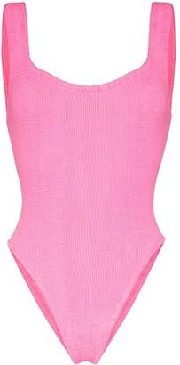 Hunza G Scoop Neck Knit Swimsuit
