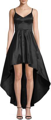 Betsy & Adam Taffeta Hi-Low Dress