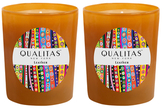 Qualitas Candles Leather Candles (6.5 OZ) (Set of 2)