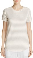 Majestic Filatures Stripe Short Sleeve Crewneck Tee