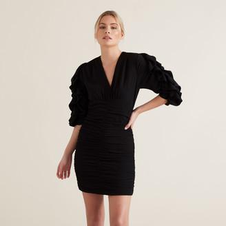 Seed Heritage Textured Frill Sleeve Dress