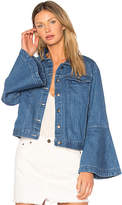 Edit Flute Sleeve Denim Jacket.