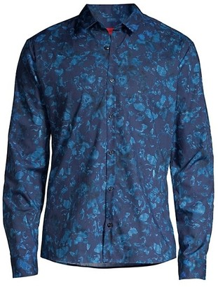 HUGO BOSS Ero Relax-Fit Floral Print Shirt