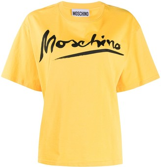 Moschino brush-stroke logo T-shirt