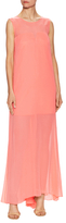 Milly Charlene Silk Gathered Gown