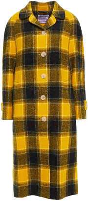 ALEXACHUNG Checked Wool-felt Coat