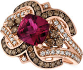 LeVian Le Vian Raspberry Rholodite Garnet (1-3/4 ct. t.w.) and Diamond (1/2 ct. t.w.) Ring in 14k Rose Gold