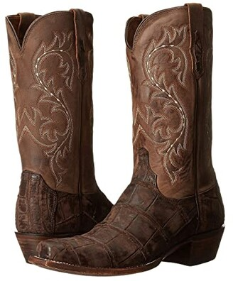 Lucchese Burke (Chocolate Giant Alligator/Cafe) Cowboy Boots