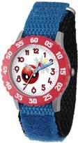 Marvel Emoji Boys Blue Strap Watch-Wma000095
