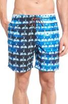 Bugatchi Men's Print Swim Trunks