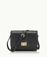 GiGi New York Catie Crossbody Black Genuine Python