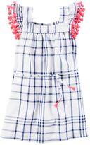 Carter's Toddler Girl Tassel Trim Plaid Dress