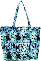Tricoastal Design Blue Floral Quilted Tote