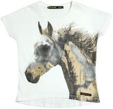 Finger In The Nose Horse Printed Cotton T-Shirt