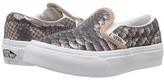 Vans Kids Classic Slip-On Rose Gold/True White) Girls Shoes