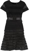 Jonathan Simkhai Fringed macramé lace-trimmed woven dress