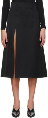 System Black Slit Skirt
