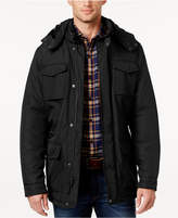 Perry Ellis Men's Field Jacket with Removable Hood