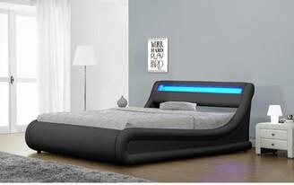 Orren Ellis Queenscliff Faux Leather Upholstered Storage Platform Bed Size: Queen