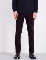 Corneliani Academy-fit mid-rise stretch-cotton corduroy trousers