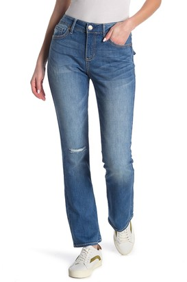 Seven7 Embroidered Distressed Bootcut Jeans (Regular & Plus Size)