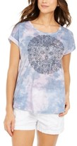 Style&Co. Style & Co Petite Mosaic-Graphic Top, Created For Macy's