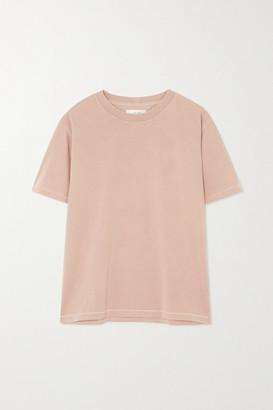 Anine Bing Hudson Cotton-jersey T-shirt - Pink