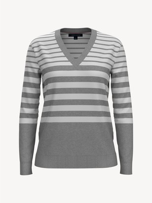 Tommy Hilfiger Essential Stripe V-Neck Sweater