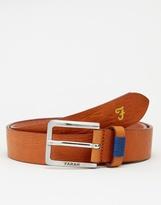 Farah Luca Leather Belt - Brown
