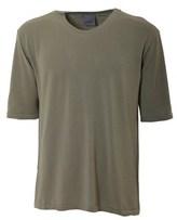 Laneus Men's Green Cotton T-shirt.