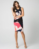 Le Château Abstract Print Woven Shift Dress