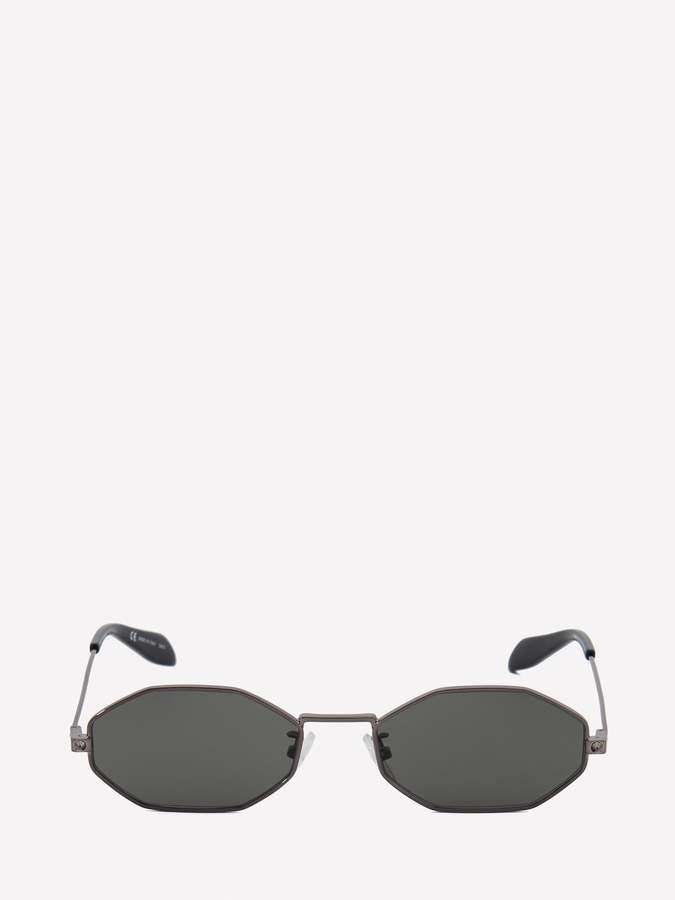 2915daeb68ff Alexander McQueen Silver Men's Eyewear - ShopStyle