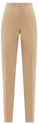 Pallas Paris - Goya Satin Side-stripe Wool-crepe Trousers - Beige