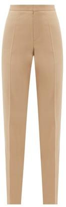 Pallas X Claire Thomson-jonville - Goya Satin Side-stripe Wool-crepe Trousers - Womens - Beige
