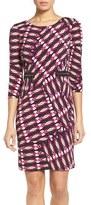 Chetta B Women's Print Jersey Sheath Dress