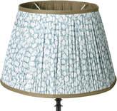 OKA 50cm Guilloche Pleated Cotton Drum Lampshade