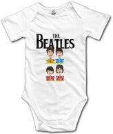 Kra8er Kids Beatles Band Logo Baby Bodysuit Rompers Unisex Boys Girls 100% Cotton 6 M