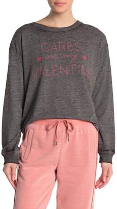 C&C California Poppy Front Graphic Knit Sweatshirt