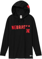PINK University Of Nebraska Campus Hoodie Tee