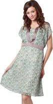 Sweet Mommy Maternity and Nursing Floral Print Chiffon Dress NVNVS