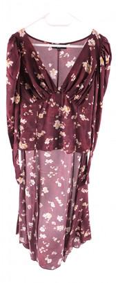 Caroline Constas Burgundy Silk Dresses