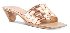 Bottega Veneta Women's Woven Kitten-Heel Slide Sandals