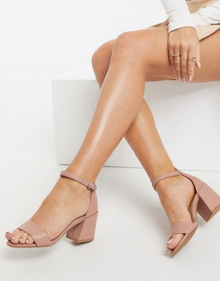 Kenneth Cole hannon heeled sandals in rose leather
