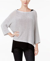 Eileen Fisher Asymmetrical Boat-Neck Top