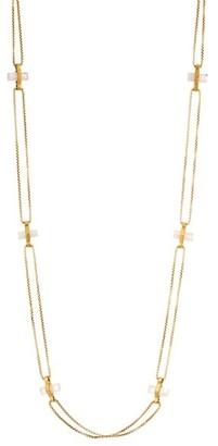Dean Davidson Core Signature 22K Goldplated & Rainbow Moonstone Bar Charm Necklace