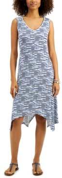 Style&Co. Style & Co Printed Handkerchief-Hem Dress, Created for Macy's